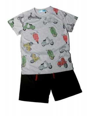 Pijama Pettrus niño corto viscosa motos