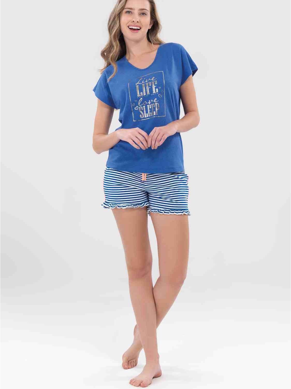 aca78c60b Pijama Blackspade mujer viscosa manga corta azul