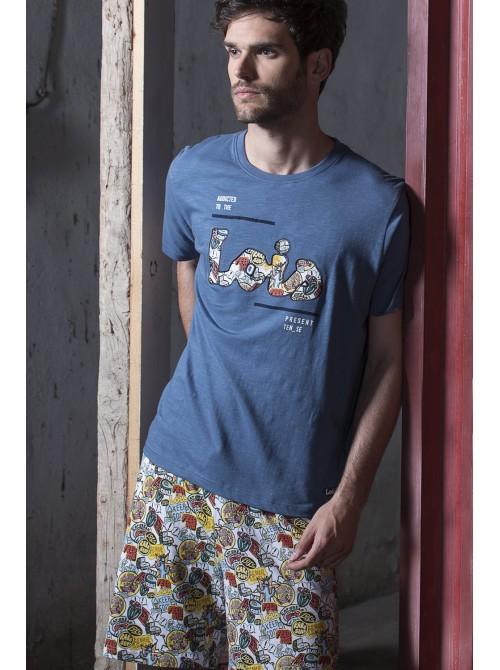 Pijama Lois hombre Hot comic algodón