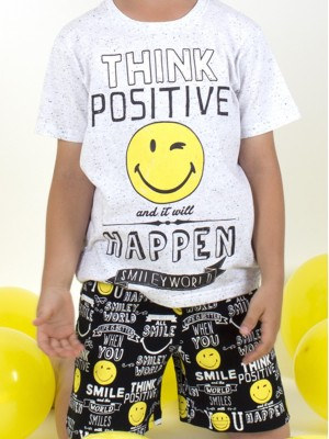 Pijama Smiley World positive niño algodón neppy