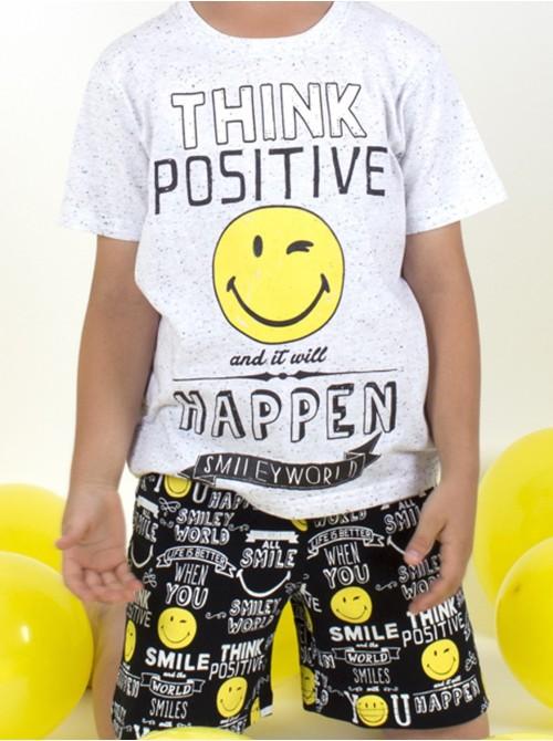Pijama Smiley World positive niño algodón neppy