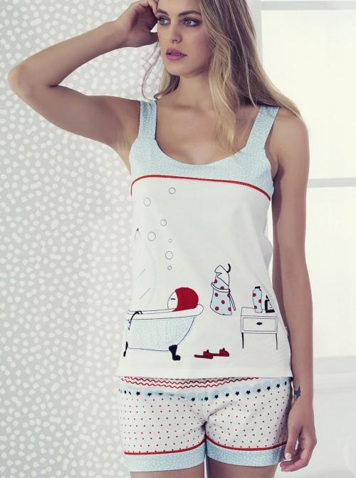 Pijama Nina and other little things corto tirante ancho algodón