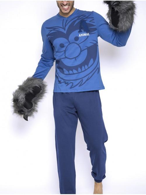 Pijama hombre Disney Animal Stripes algodón bolsillos