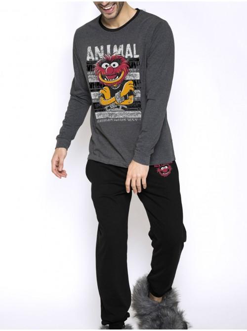 Pijama hombre Disney Animal Paint bolsillos