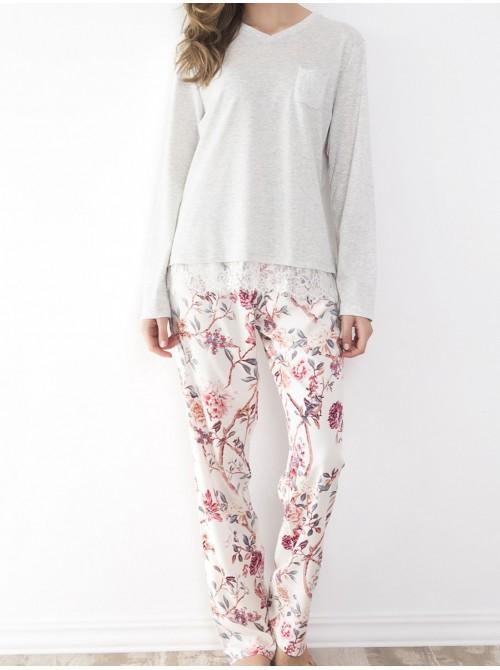 Pijama mujer Admas Classic Edition Friend flowers viscosa algodón