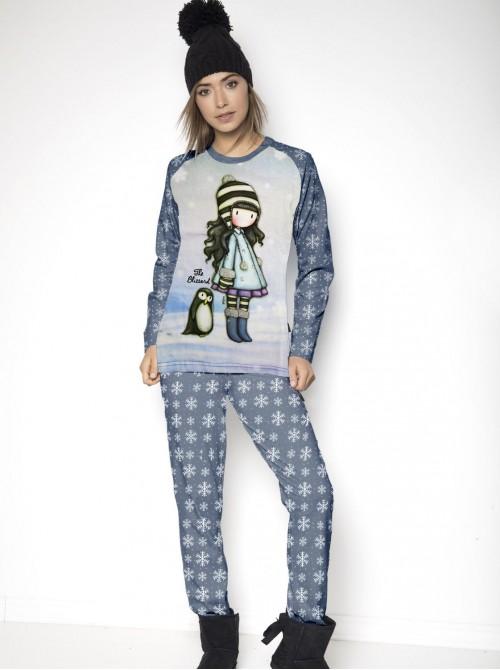 Pijama mujer Santoro Gorjuss The Blizzard algodón caja metal regalo
