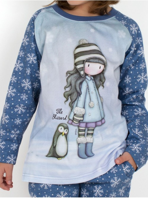 Pijama niña Santoro Gorjuss The Blizzard algodón caja metal regalo