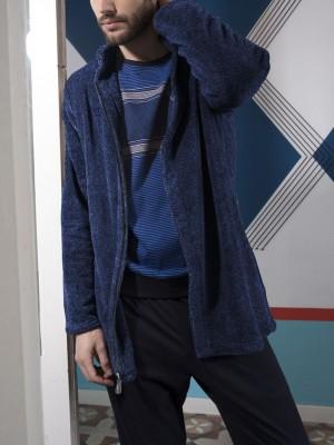 Bata chaqueta hombre ADMAS Blue Fur azul Coralina
