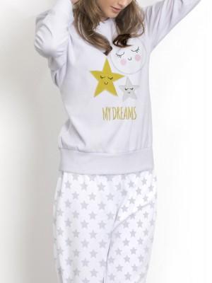 Pijama mujer Admas micropolar gris caja especial regalo
