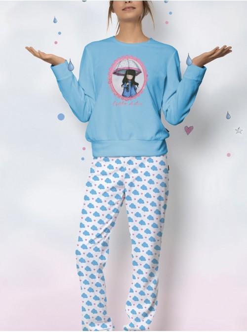 Pijama mujer Santoro Gorjuss Puddles of love micropolar caja regalo