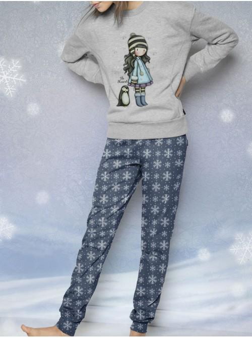 Pijama mujer Santoro Gorjuss The Blizzard bolsillos caja metal regalo