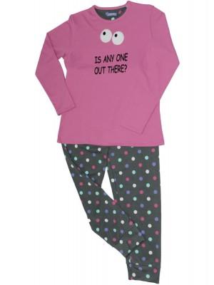 Pijama niña Pettrus Any One rosa felpa algodón