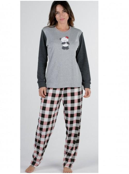 Pijama mujer Pettrus Osita felpa y algodón