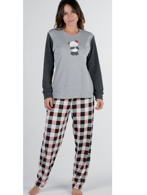 8aa335320e Pijama mujer Pettrus Osita felpa y algodón