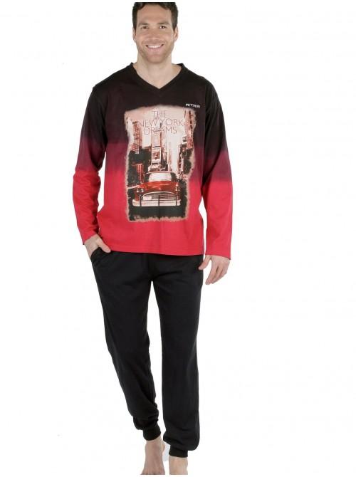Pijama hombre Pettrus New York Dreams algodón ecológico sostenible