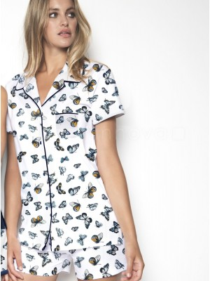 Pijama corto abierto mujer Admas butterfly viscosa