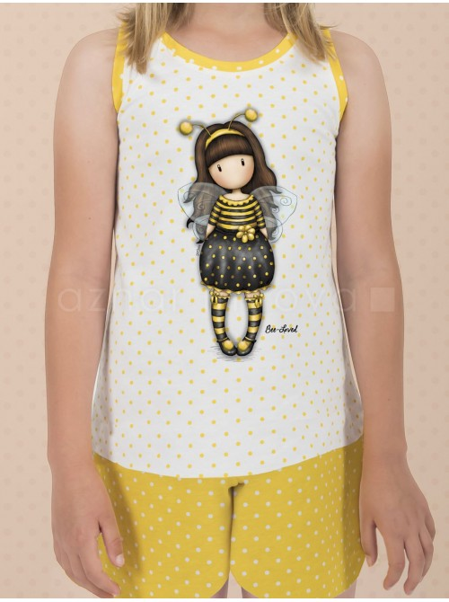 Pijama niña Santoro Gorjuss Bee Loved caja metal regalo