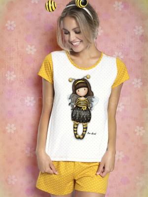 Pijama mujer Santoro Gorjuss Bee Loved caja metal regalo