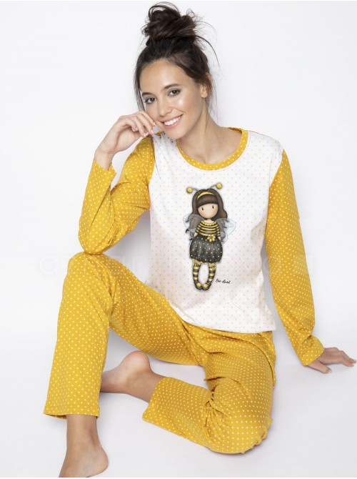 Pijama largo mujer Santoro Gorjuss Bee Loved caja metal regalo
