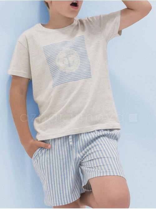 Pijama corto niño Admas familar marinero algodón