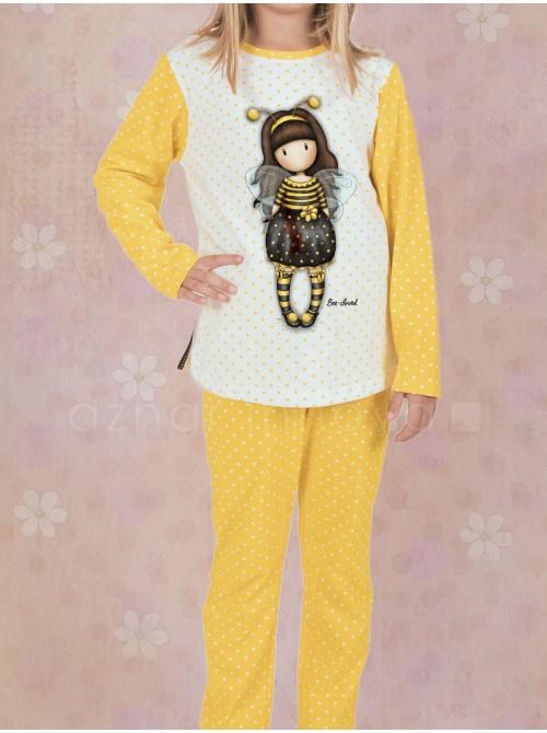 Pijama largo niña Santoro Gorjuss Bee Loved caja metal regalo
