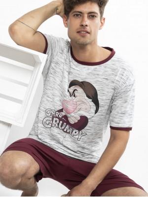 Pijama hombre Disney Grumpy algodón verano