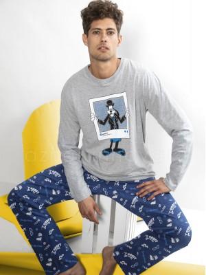 Pijama largo hombre Disney Goofy algodón