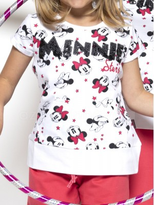 Pijama niña Disney Minnie Bowtiful Faces blanco algodón