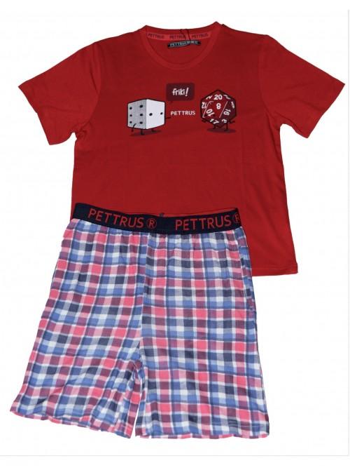 Pijama niño Pettrus algodón viscosa cuadros