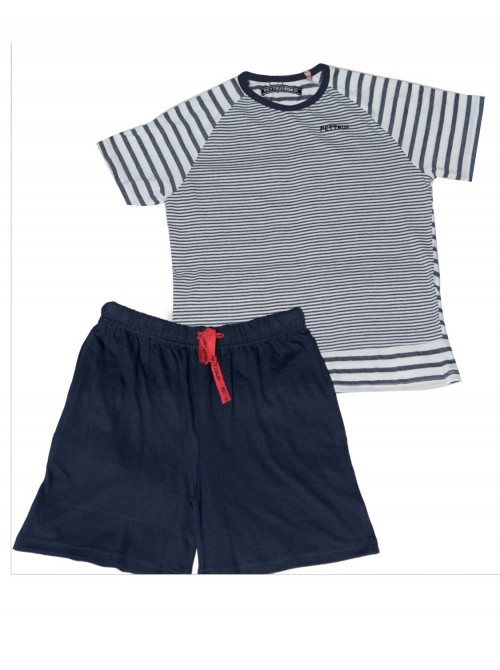Pijama niño corto Pettrus algodón marinero