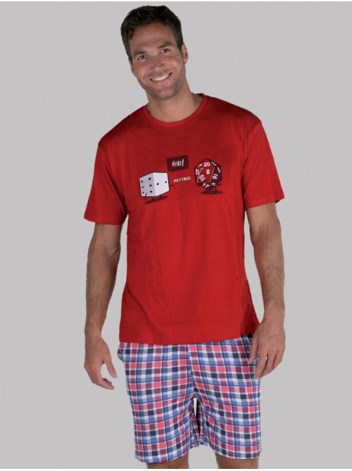 Pijama hombre Pettrus algodón viscosa cuadros