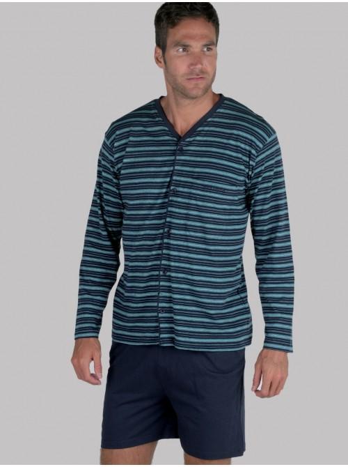 Pijama hombre verano abierto Pettrus algodón ecológico