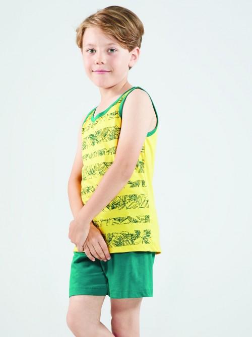 Pijama niño hombrera Blackspade amarillo algodón modal