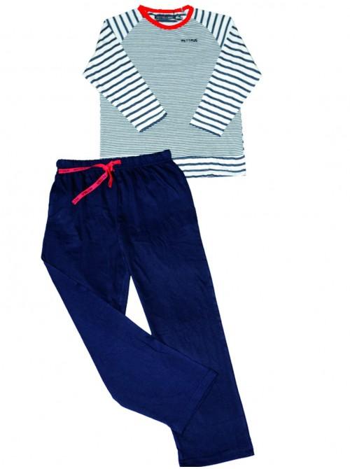 Pijama niño largo Pettrus algodón marinero