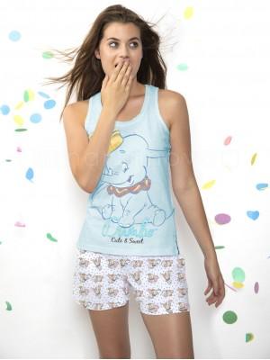 Pijama mujer Disney Dumbo algodón verano