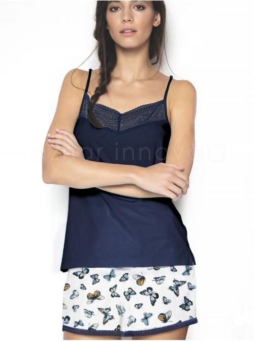Pijama corto mujer Admas butterfly algodón viscosa
