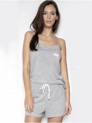 Pijama mujer Admas gris punto viscosa verano