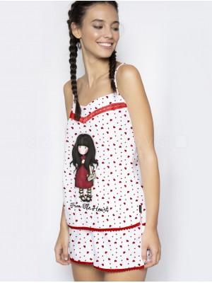 Pijama mujer Santoro Gorjuss From the Heart algodón verano