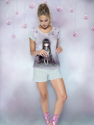 Pijama mujer Santoro Gorjuss Rosebud algodón verano