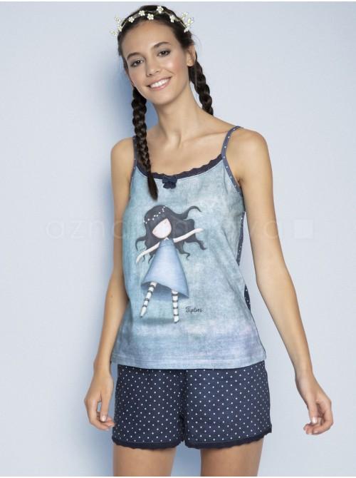 Pijama mujer Santoro Gorjuss Tiptoes algodón verano