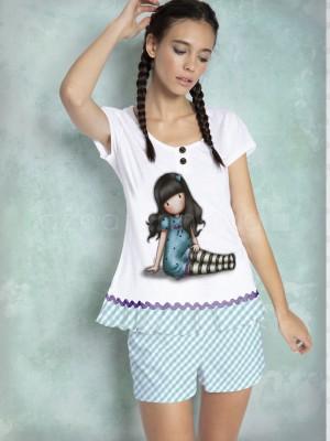 Pijama mujer Santoro Gorjuss Sitting algodón verano