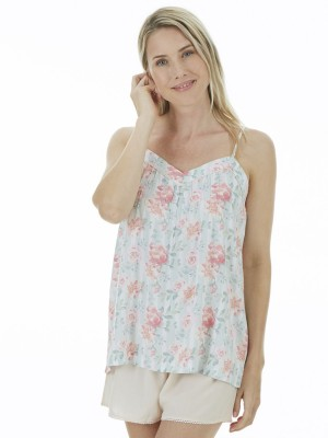 Pijama mujer J&J Brothers flores pastel viscosa