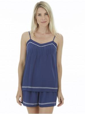 Pijama mujer J&J Brothers azul viscosa
