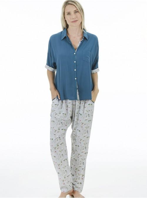 Pijama mujer J&J Brothers pantalón largo viscosa