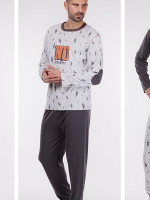 Pijama hombre Rachas&Abreu gris invierno