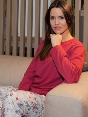 Pijama mujer Rachas&Abreu burdeos invierno