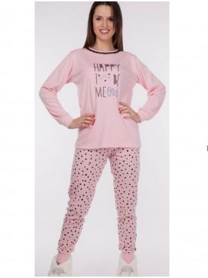 Pijama mujer Rachas&Abreu rosa invierno
