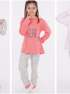 Pijama niña Rachas&Abreu rosa abierto invierno