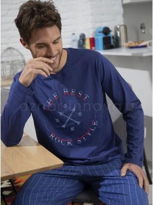 Pijama hombre ADMAS Rock azul algodón