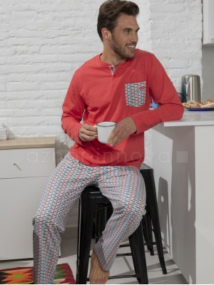 Pijama hombre ADMAS Fórmula rojo algodón